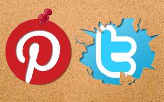 Pinterest-and-Twitter-Logos-on-Pinboard